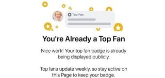 Facebook introduce il badge Top-Fan per gli utenti più attivi