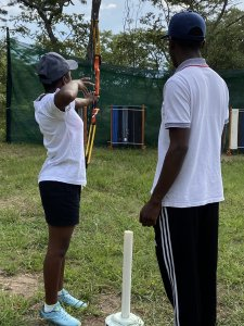 Students at Archery Club meeting