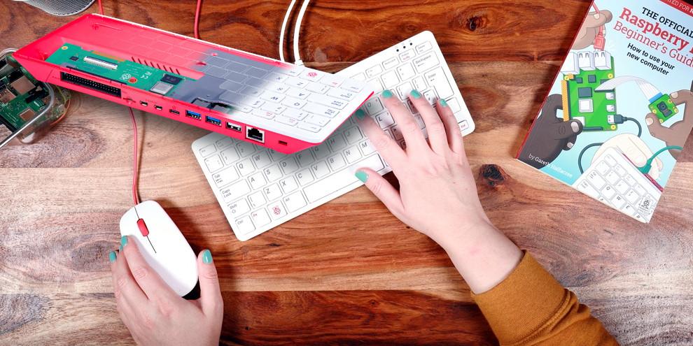 Raspberry Pi 400: si vede solo la tastiera