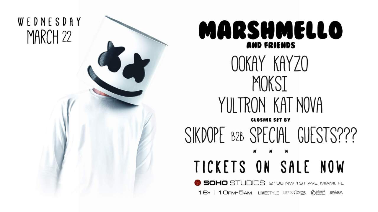 Marshmello And Friends @ Soho Studios || Event Preview & Giveaway