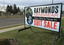 Raymonds portable sign