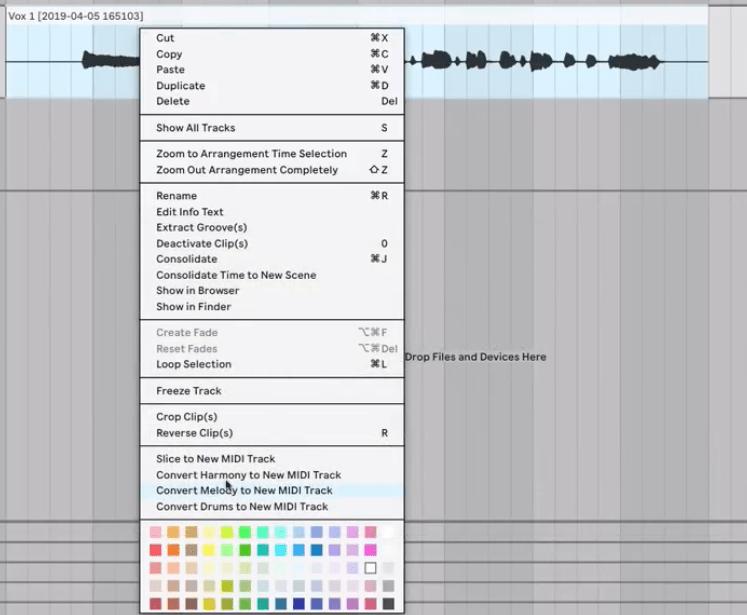 Convert audio to MIDI
