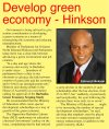 Develop green economy - Hinkson - 2016-11-01 - Barbados Today - Page 7