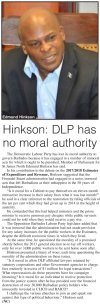 Hinkson: DLP has no moral authority - 2017-03-15 Barbados Today - Page 7