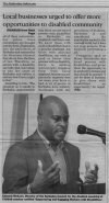 Local businesses urged to offer more opportunities to disabled community - 2017-04-14 - The Barbados Advocate - Page 15
