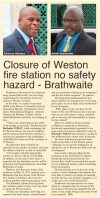 Closure of Weston fire station no safety hazard - Brathwaite - 2017-06-13 - Barbados Today - Page 6
