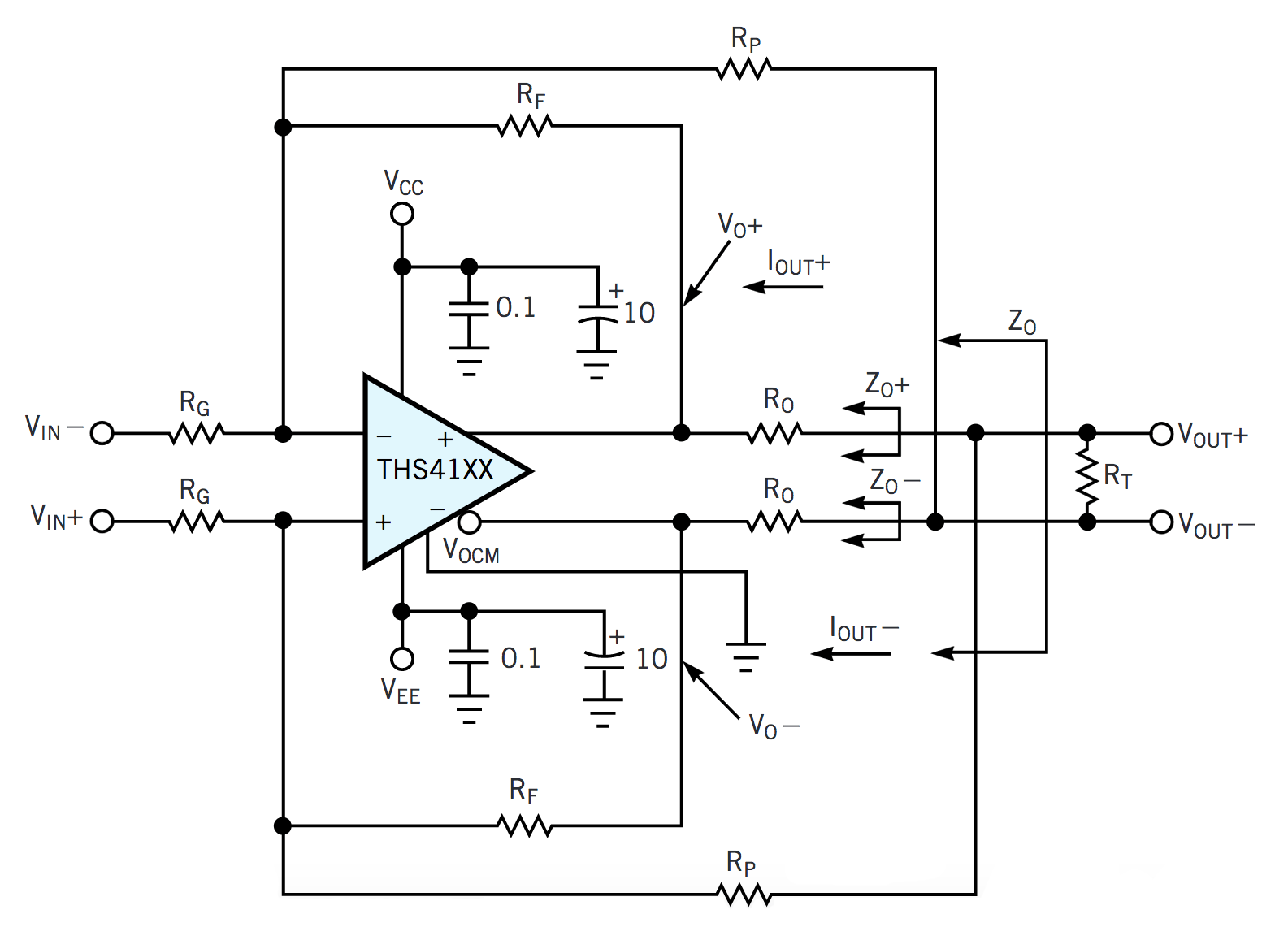Fully Differential Amplifier Schematic