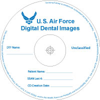 AF-DEN-Wht-CD-R-Slv US Air force Dental Record CD-R