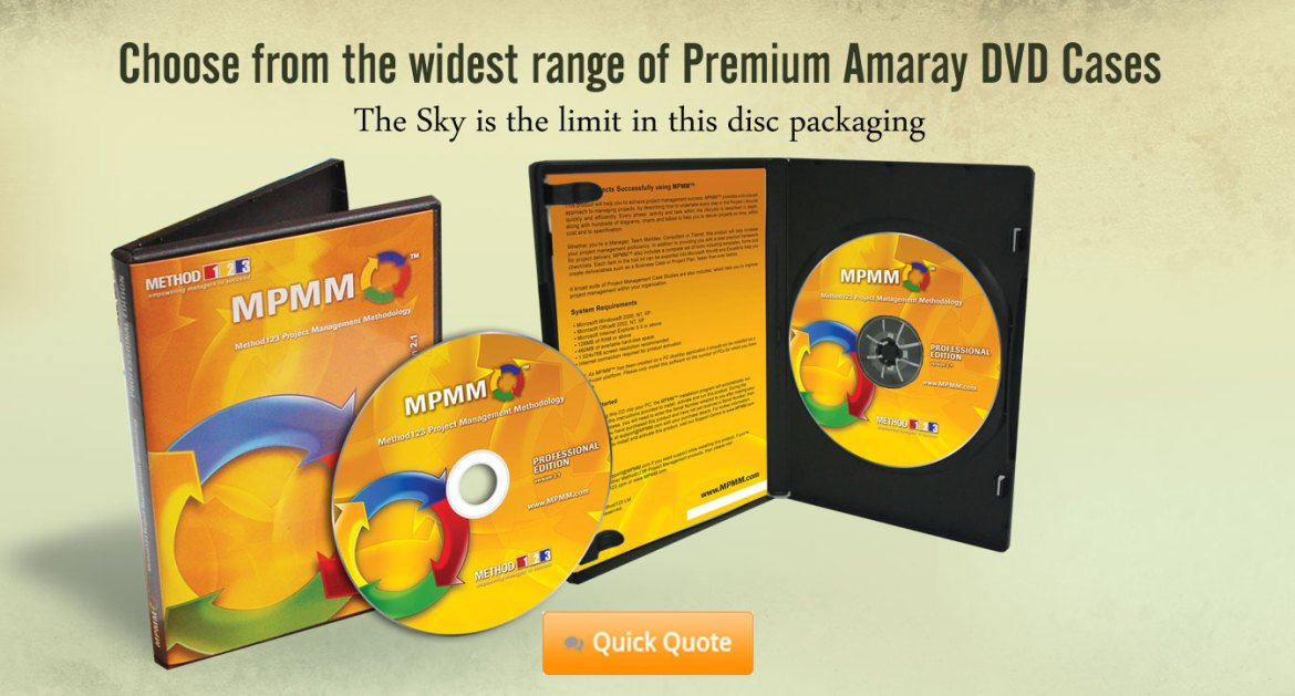 Package LC1 CD-ROM or DVD Replication in Amaray DVD case
