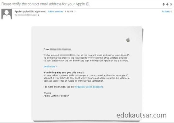Daftar Apple ID tanpa kartu kredit