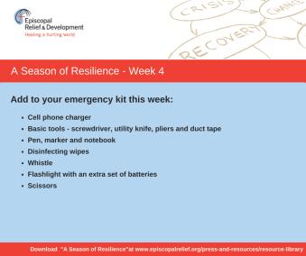 A Season of Resilience- Week 4 Emergency Kit