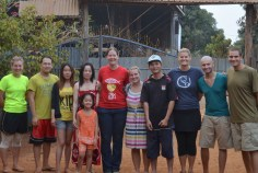 Team and hosts in our compound