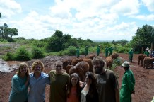 K & L Squad Leaders at the Elephant Orphanage