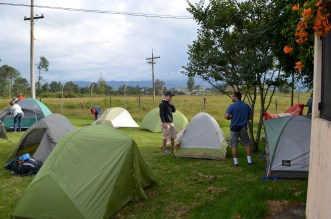 The guys' tent village