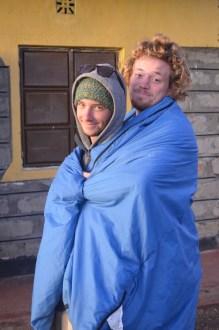 Johnny & Travis Staying Warm