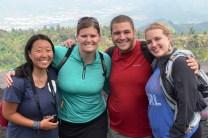 Michelle K, Erin, Me, & Michelle C on volcano