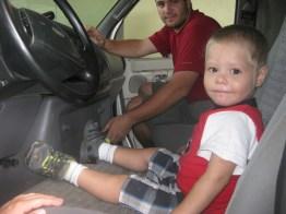Jesler and me in the van