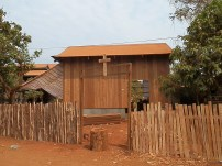 Finished Fence and Cross at Teacher's House