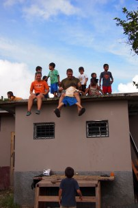 We play on roofs for fun!