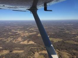 Flying around!