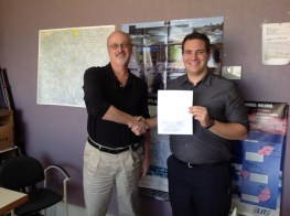 Randy and me with my Private Certificate