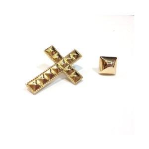 Orecchini Borchie e Croce