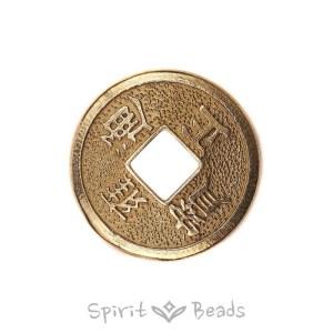 Spiritbeads Chinese Luck Coin Brass