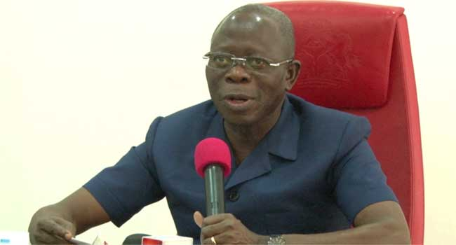 Oshiomhole commissions two industrial boreholes in Ihievbe