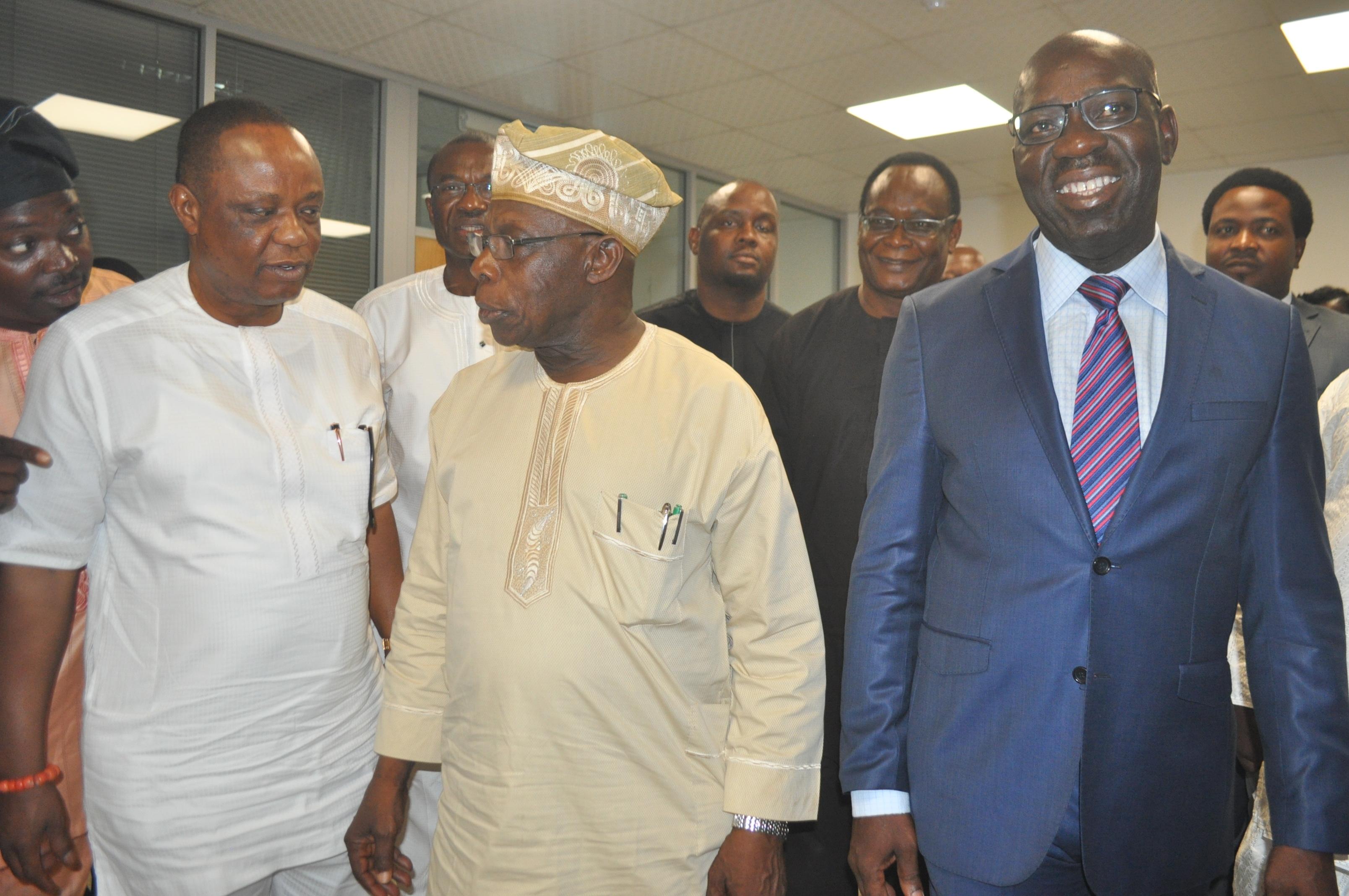Obasanjo visits Obaseki, Wells Farm to boost Edo economy