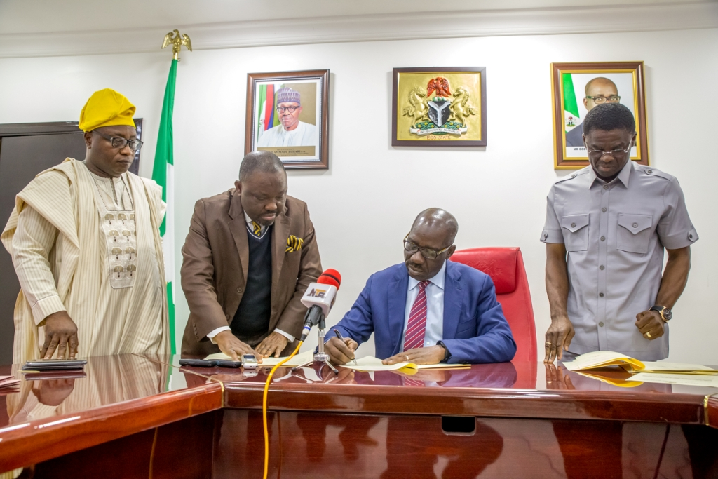 Governor Obaseki signs Harmonized local govt levies, charges bill into law