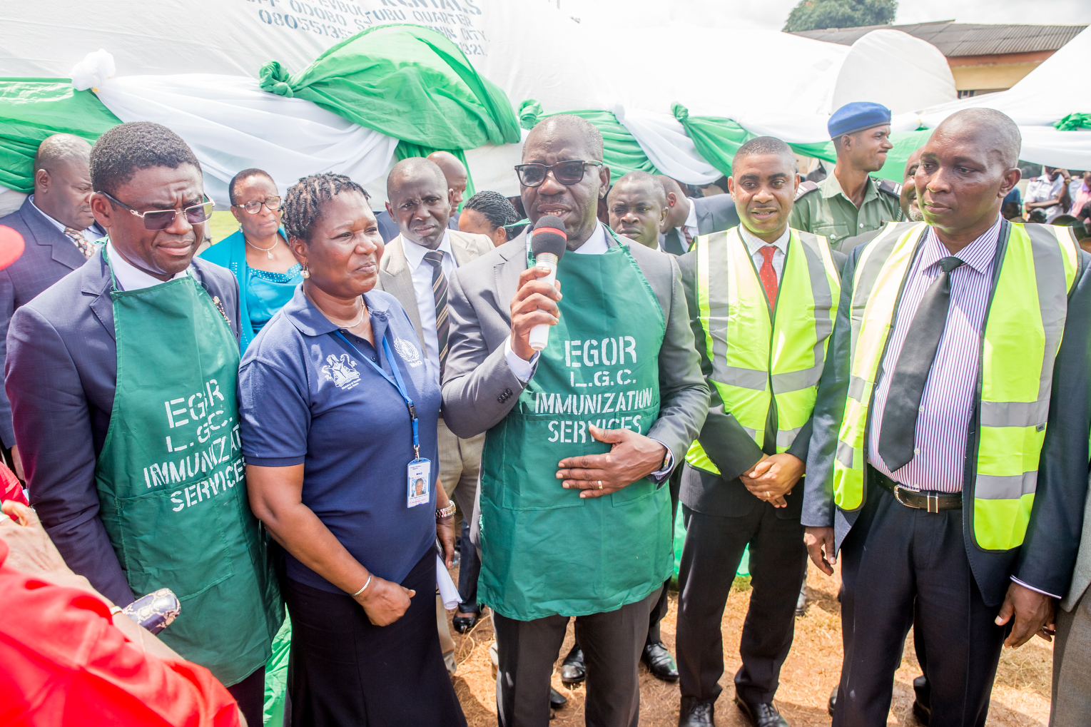 Obaseki flags off immunisation project, rewards LGAs with N10m