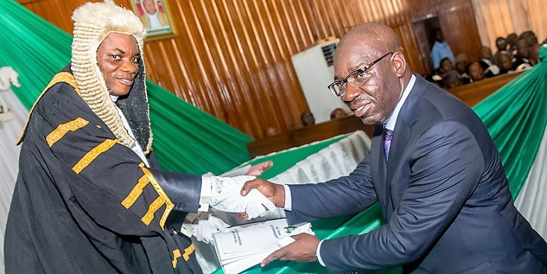 Governor Obaseki presents N146bn 2018 Budget Estimate to Edo Assembly