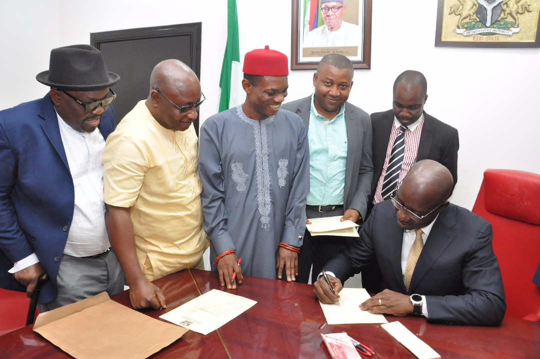 Obaseki signs Edo's N150bn 2018 Budget into Law