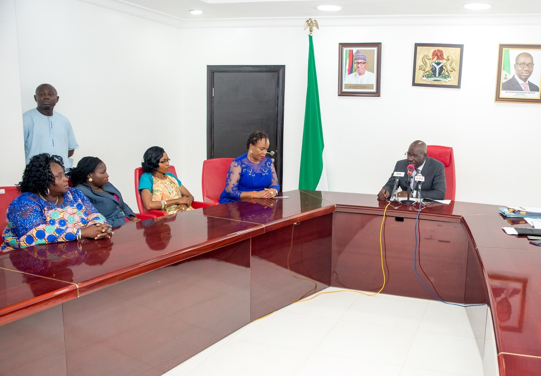 Obaseki swears in 19 female aides, tasked them to improve women's conditions