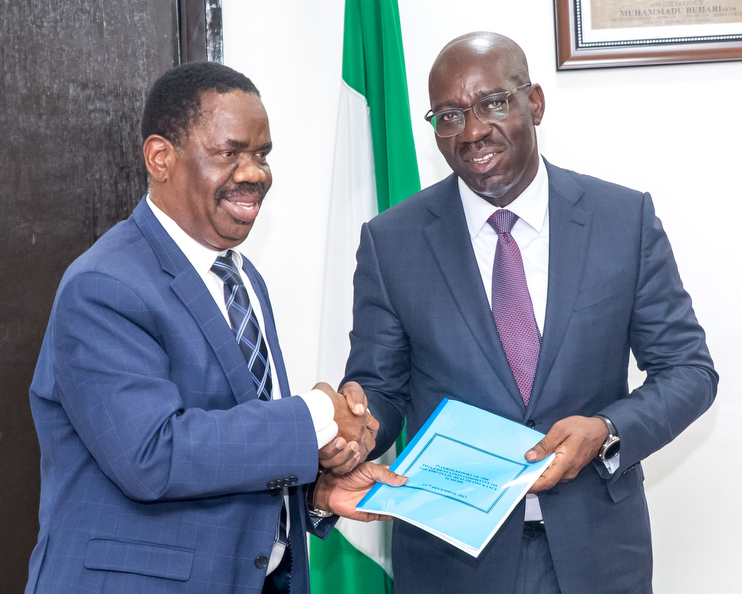 Obaseki receives Report on establishment of Edo Health Insurance Scheme