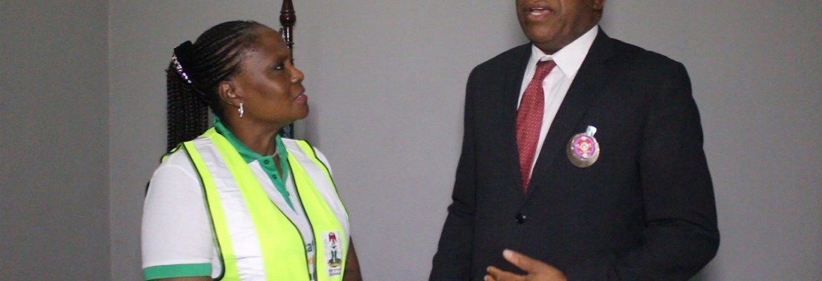R-L: Minister of Foreign Affairs, Mr. Geoffrey Onyema and Attorney General/Commissioner for Justice and Chairperson, Edo State Task-force Against Human Trafficking, Prof. Yinka Omorogbe, at a section of the Port Harcourt International Airport after receiving some of the Libya returnees evacuated by the federal government.