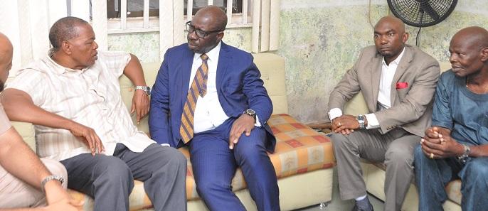 Obaseki visits APC leader, Amegor over son's death