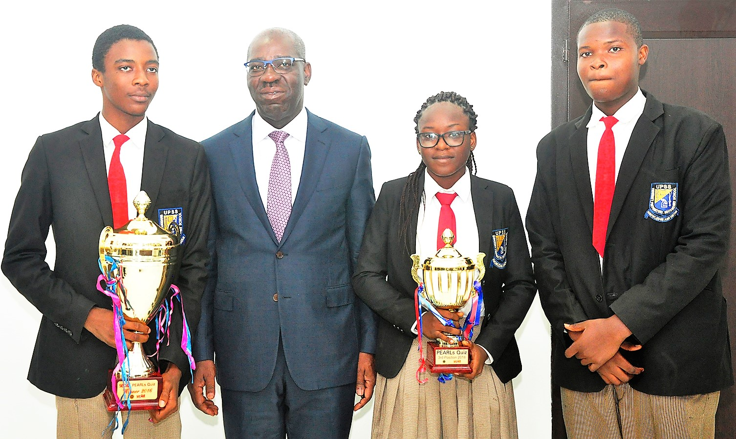Obaseki hosts, celebrates victorious Edo contingent in 2018 NPDC/SEPLAT PEARLS competition