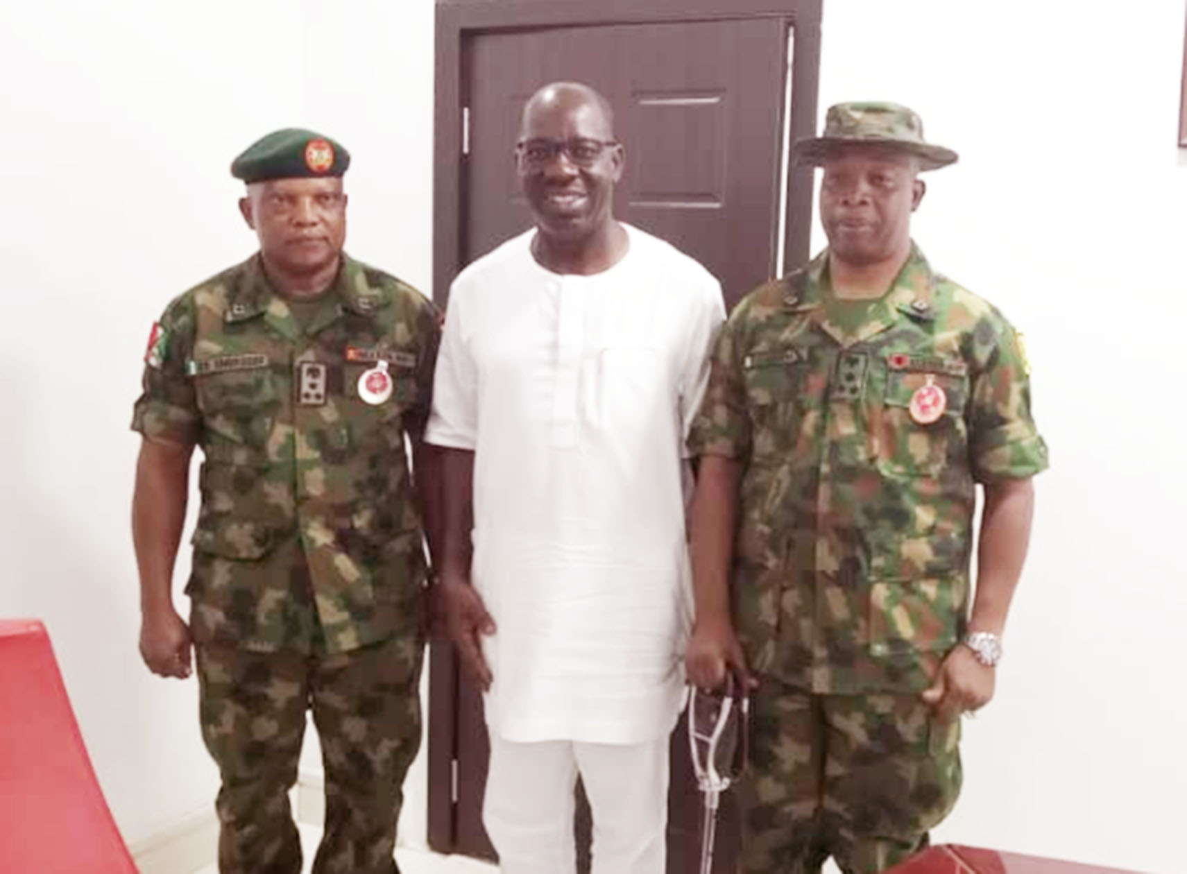 Obaseki receives new 4 Brigade Commander, promises to bolster security with new architecture