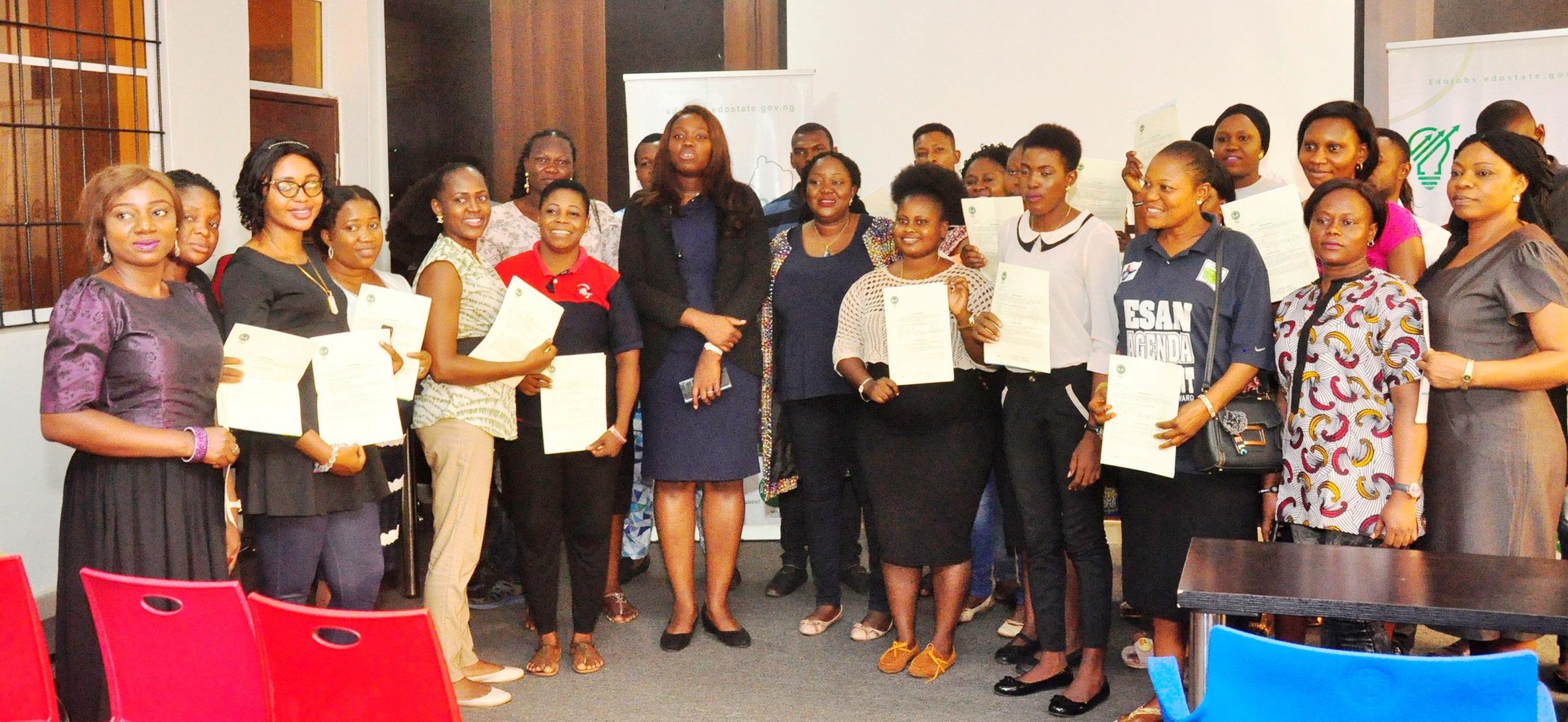 Obaseki's job creation initiative: Fresh 75 beneficiaries begin Graduate Internship Scheme in Edo