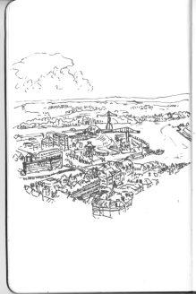 Ile de Nantes, vue depuis la tour Bretagne