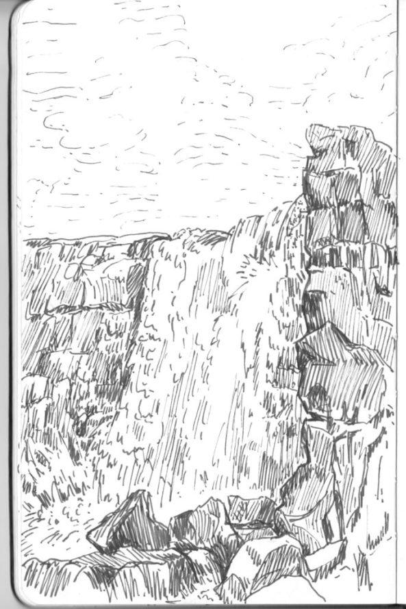 Þingvellir, la chute Öxarárfoss.