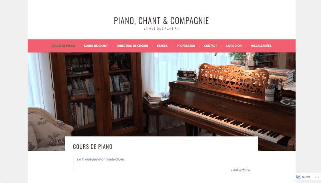 Banniere : piano