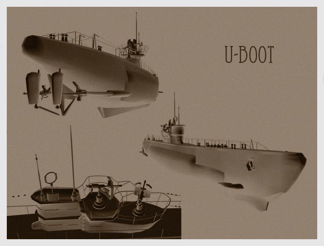 U-boot (3Ds Max)
