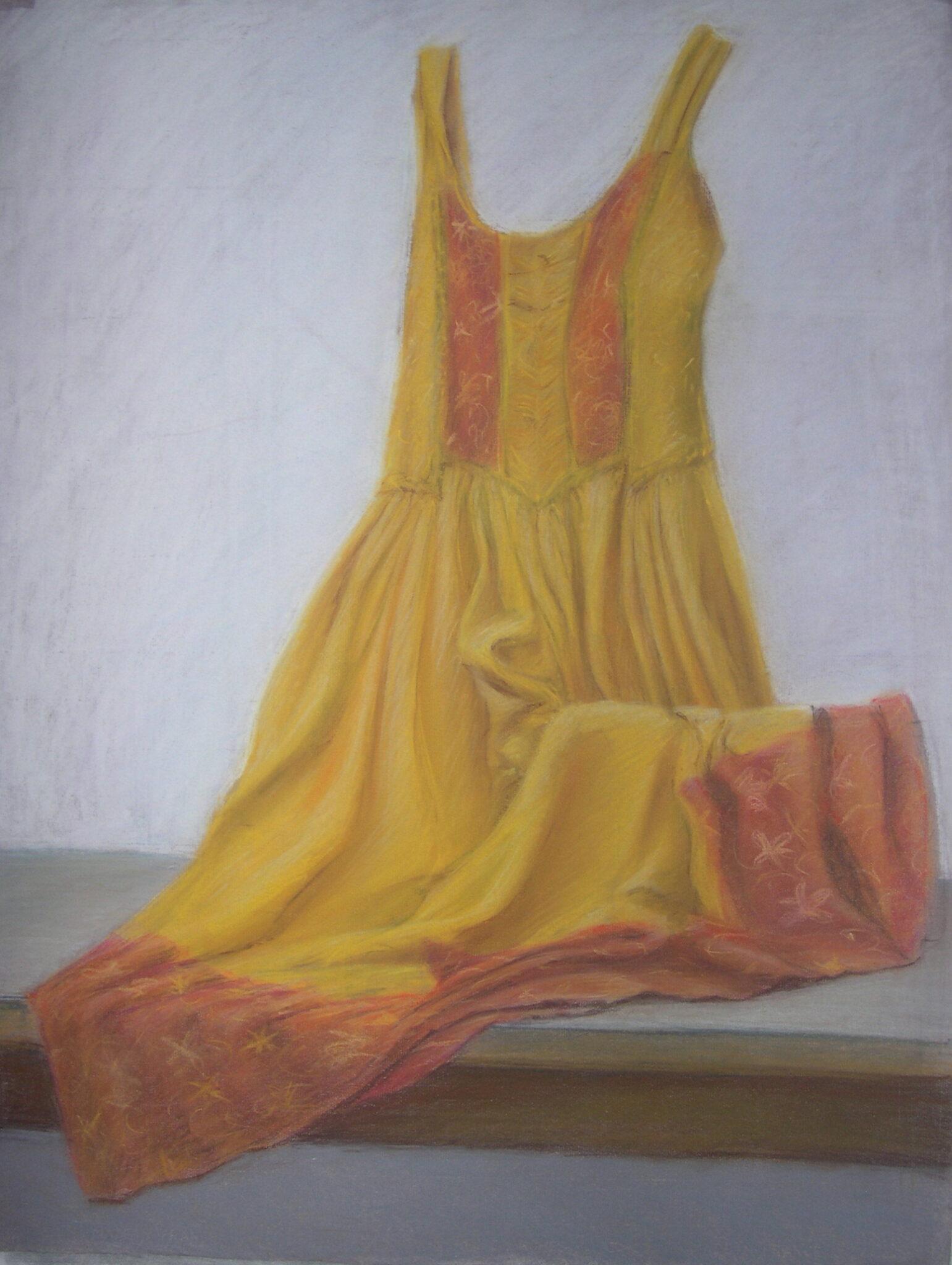 Étude de drapé (pastel sec)