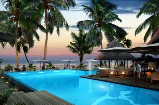 piscine bar domaine de l'orangeraie seychelles lune de miel