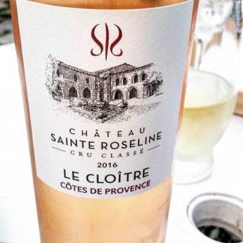vin rosé sainte roseline le cloitre côte de provence