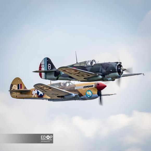 A pair of Curtiss Hawks
