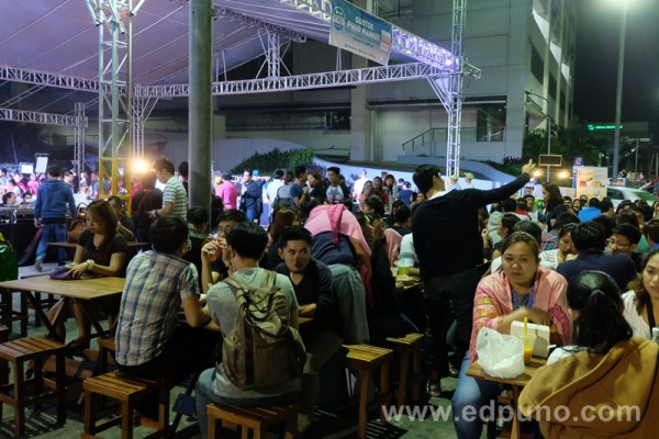 Dining area at Gustos Food Market