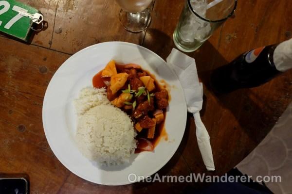 Dinner at isla Jardin del mar
